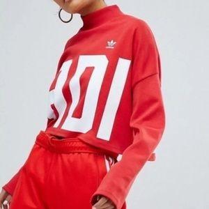 Adidas Mock Neck Crop Top